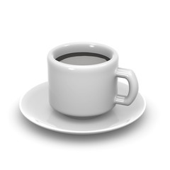 3d White coffee cup