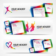 Abstract modern website banner set. EPS 10 vector