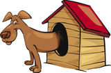 dog in kennel poster