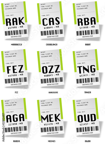 Airport tag bags - Maroc