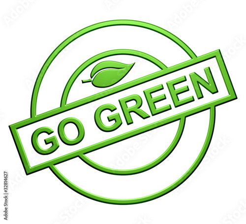 """Go Green"" Label"