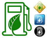 Biodiesel pictogram and signs