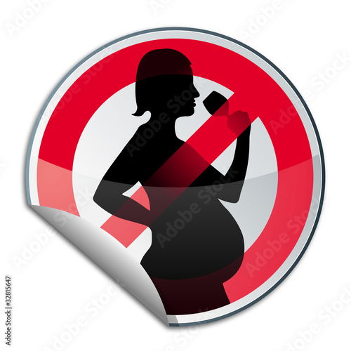 interdiction aux femmes enceintes de boire de l 39 alcool de kotoyamagami photo libre de droits. Black Bedroom Furniture Sets. Home Design Ideas