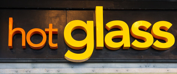Hot Glass Sign