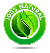 100% Natural product Symbol