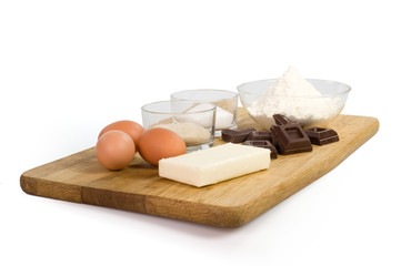 ingredienti su tagliere