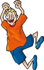 Cartoon of Happy Jumper