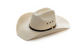 Cowboy hat on white