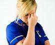 portrait of tired nurse