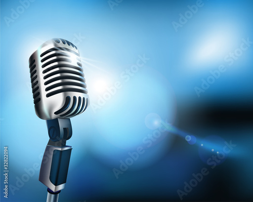 Microphone. Vector illustration.