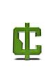 Digital alphabet cent symbol