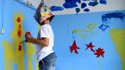 pintura niño