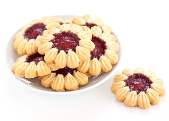 Cookies filled with jam