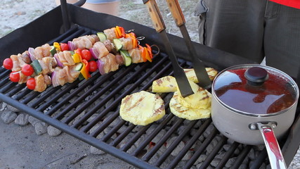 Shish Kabobs Pineapple