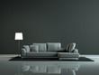 Wohndesign - weisses Sofa beleuchtet