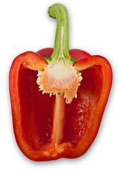 Zerschnittene rote Paprikaschote