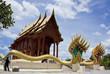 Modern Thai teak temple