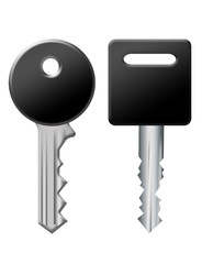 black and silver keys