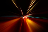 Fototapety abstract acceleration speed motion on night road