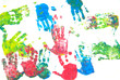 Colored hands print