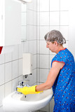 Cleaning Woman at Fitting
