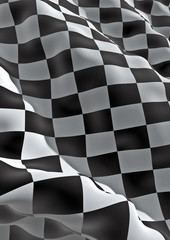 3D checkered flag
