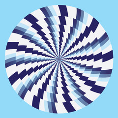hypnotic circles blue white