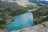 alpine lake, view from the top of mountain, Gorny Altai