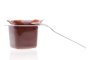chocolate dessert isolated