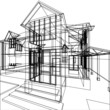 Abstract sketch of house