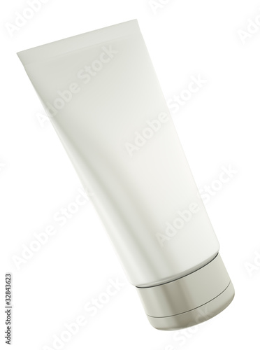 Blank tube isolated on white background. 3D render.