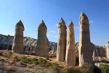 Love Valley in Cappadocia, Turkey