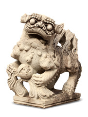 Stone Lion sculpture, China