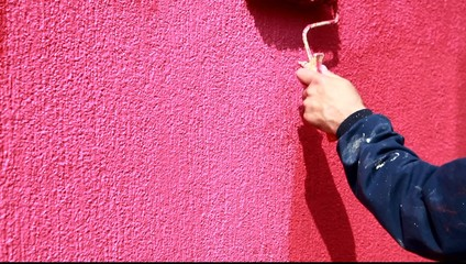 Painting with paint roller