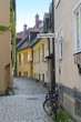 Narrow street in small european town