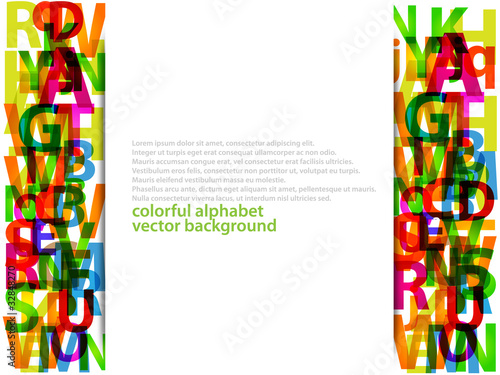 Alphabet letters vector background