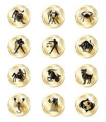 Sternzeichen Gold Design