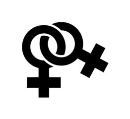 Intertwined Female Symbols