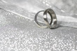 Wedding rings on a luxury background