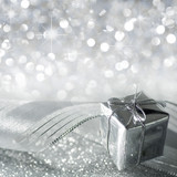 Christmas gift in silver