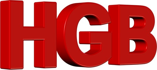 3D Wort rot HGB