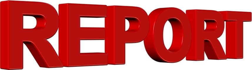 3D Wort rot REPORT