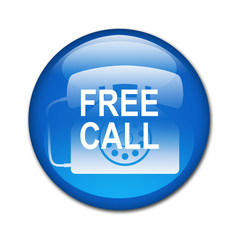 Boton brillante FREE CALL