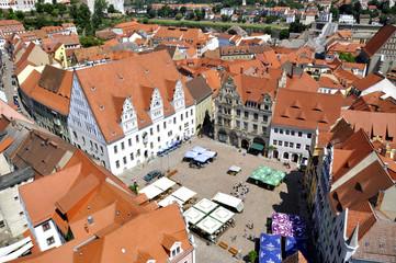 Meißen Luftbild Marktplatz