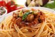 spaghetti alla caponata - tre