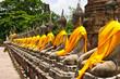 Row of Sacred Buddha in Ayutthaya - 32855077