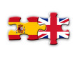 Spain & UK Flags (spanish english languages translation jigsaw)