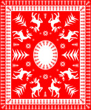 Red and White Festive Table Linen Design