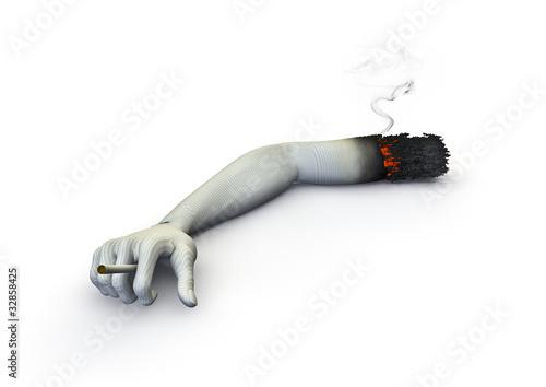 Cigarette arm
