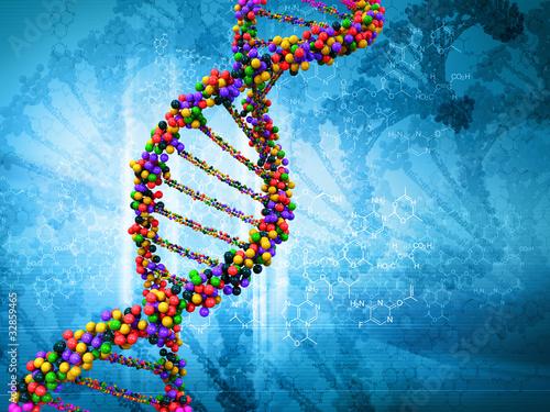 Digital-Illustration einer DNA
